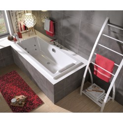 Pack baignoire balnéo Feeling 180 x 80 cm + 1 tablier Clip's recoupable 180 cm - double dos - ALLIBERT