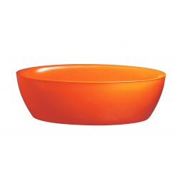 Baignoire balnéo + tablier - ilôt - orange - Dip Softies - AQUADESIGN