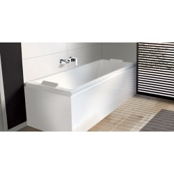 Pack baignoire balnéo Kando + tablier d'angle Fix'Alu 180 x 80 cm - Essentia - ALLIBERT